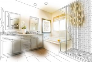 Bathroom design sketch