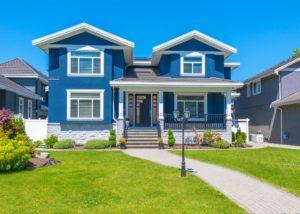 beautiful blue house